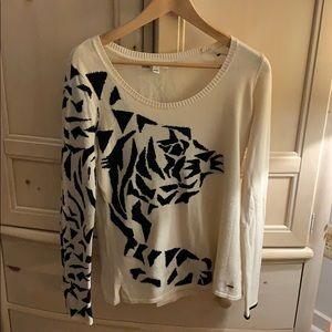 Women'sVolcom sweater medium creme/black
